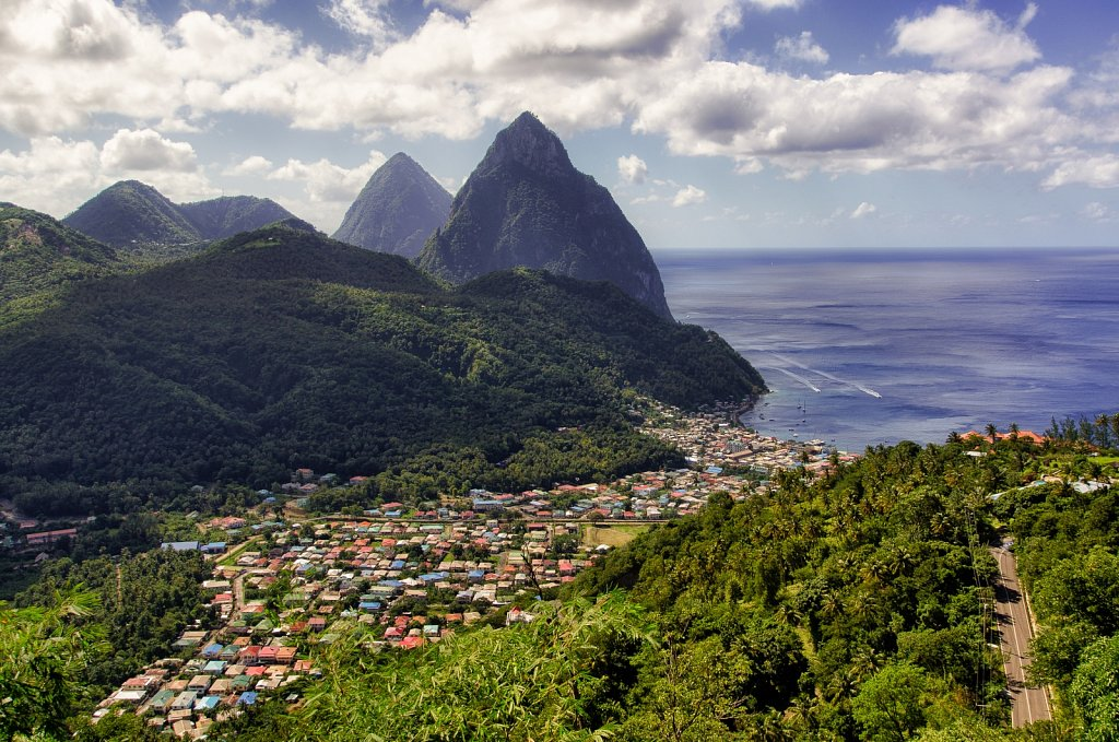 The Pitons. Saint Lucia.