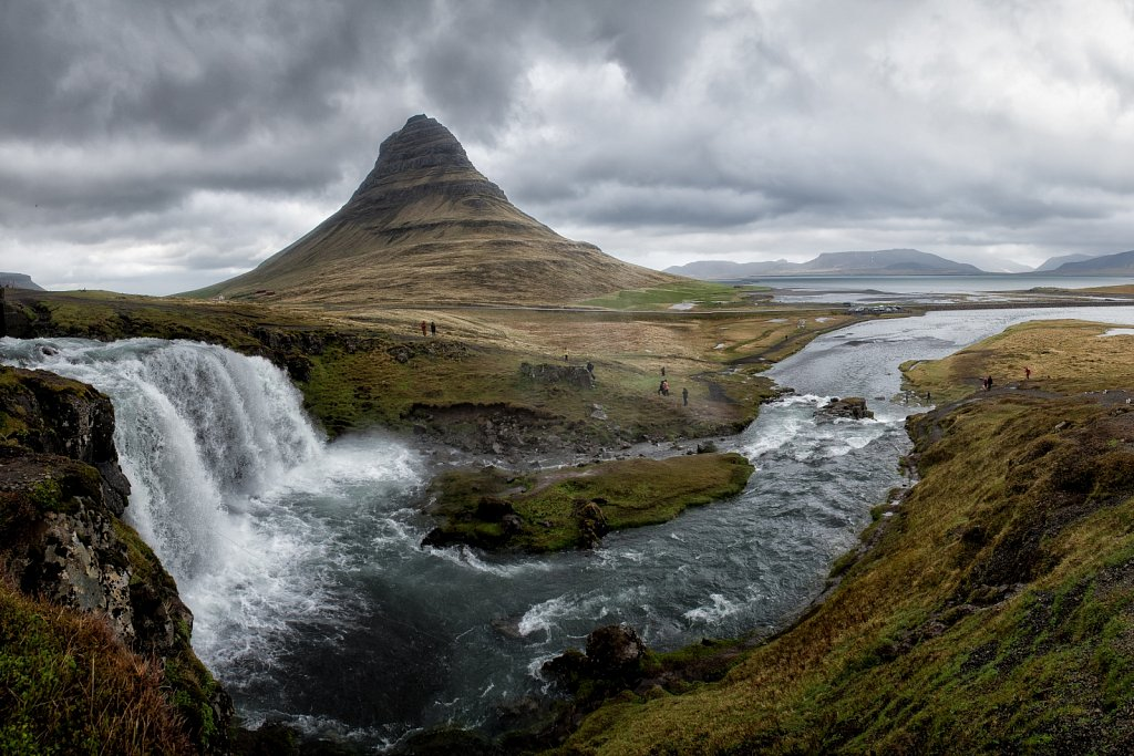 Kirkjufell Mountain. West. Iceland.