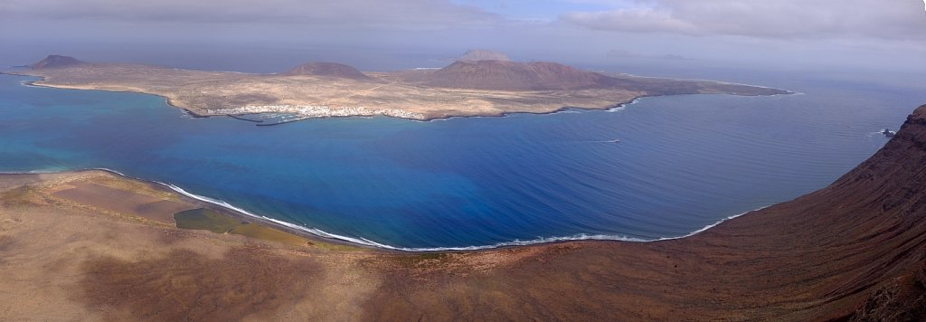 View on La Graciosa. Lanzarote. Spain.